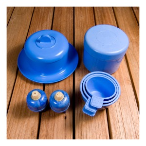 Blue bakelite collection