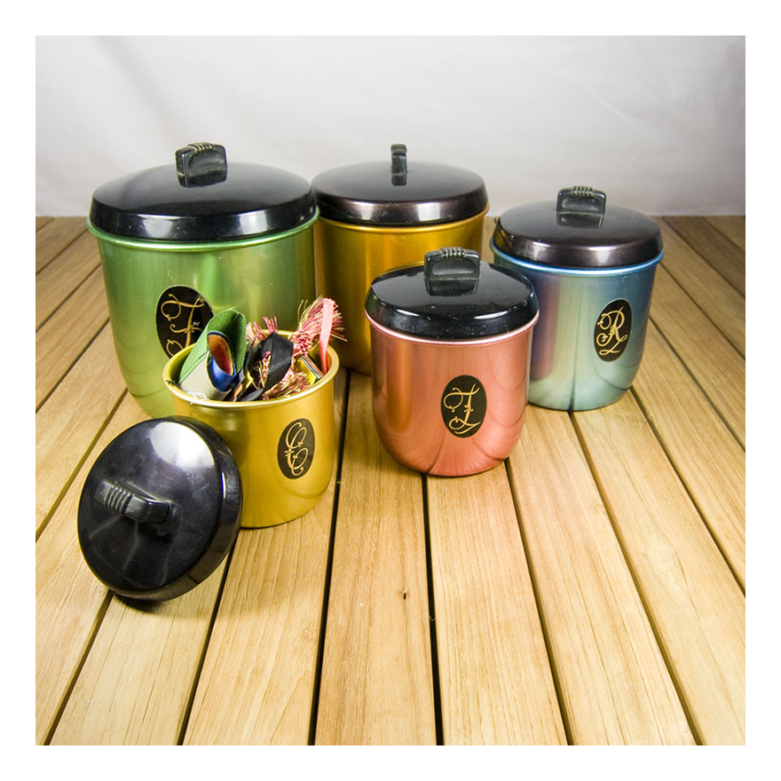 kitchen canisters re retro addison ceramic canisters set of 3 free shipping today