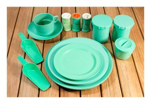 Green bakelite collection