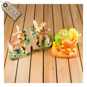 bambi bookends and nightlight