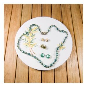 Diana wattle plate and 50s costume jewellery