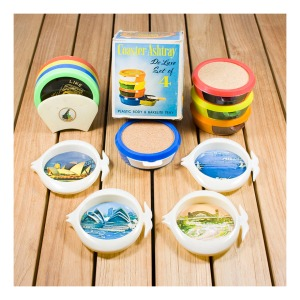 Kitsch coaster sets