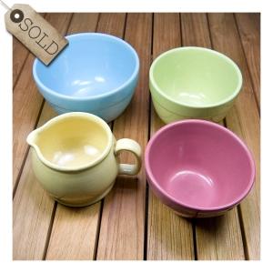 Fowler Ware pudding bowls & jug