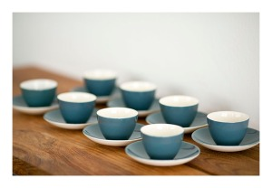 Poole Blue Moon tea cups