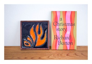 Shalom ceramic wall tile and a Christmas story