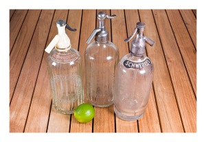 vintage soda bottles