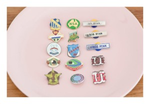 retro Australian badges