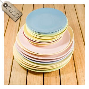 50s and 60s coloured plates