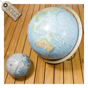 Readers Digest Earth & Moon Globes