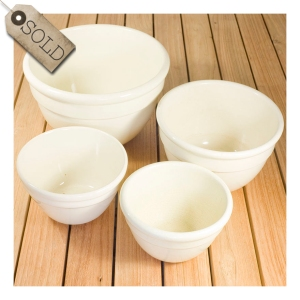 Monochrome Fowler pudding bowls
