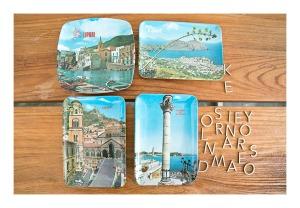 retro Lipari & Amalfi sourvenir plates