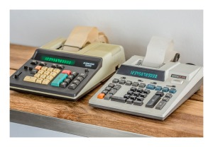 Adler & Casio electronic printing calculators