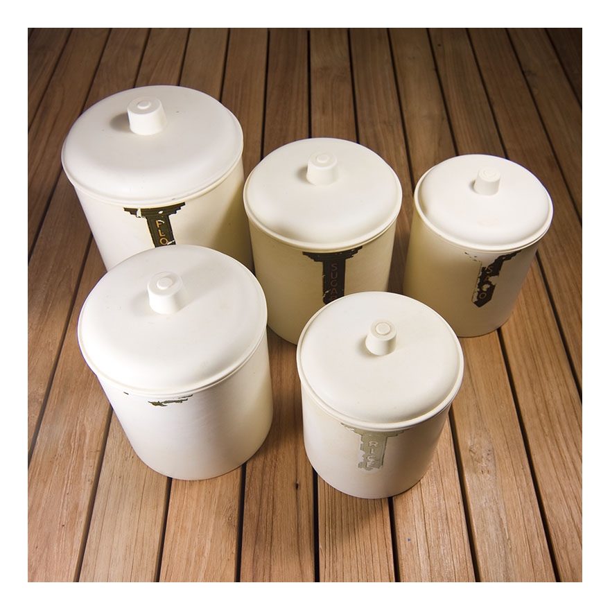 bakelite kitchen canisters re retro