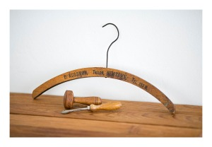 retro timber tailoring tools