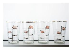 graduated [pig] shot glasses