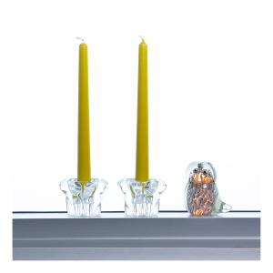 Kosta Boda candleholders and Vereker owl paperweight