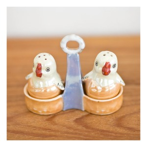 retro lustre ware chick S & P shakers