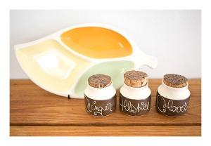 Hanstan spice jars & Terra Ceramics Leaf Plate