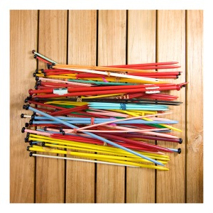 Swallow casein knitting needles