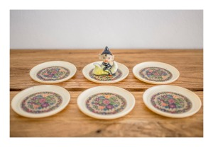 Retro English rose coasters