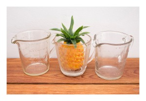 Vintage measuring jugs