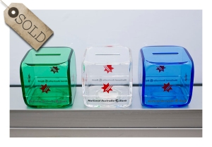 Retro perspex moneyboxes