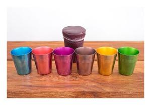 50s anodised aluminium beakers