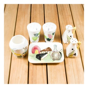 60s Japanese condiment sets
