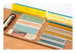 Retro drafting stencil set