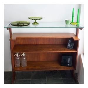 Mid century modern teak bar