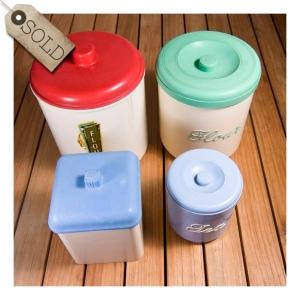 Australian bakelite canisters