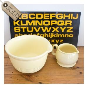 Fowler Ware bowl & jug