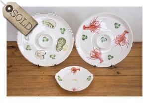 Ironstone platters & plate