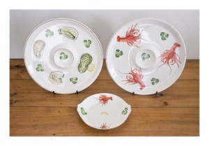 Ideal Ironstone platters & plate