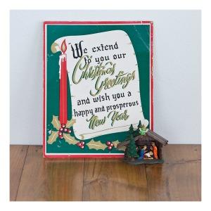 Christmas sign & nativity scene
