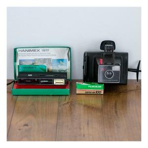 70s cameras- Hanimex 110TF & Polaroid Zip