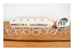 Guzzini 70s lucite napkin rings