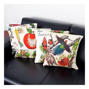 Upcycled cushions [retro Australian linens]