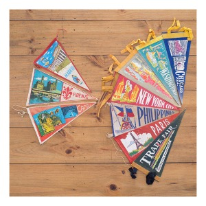 Travel pennants from the 50s & 60s