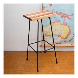 Upcycled 50s stool