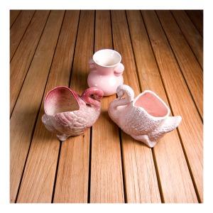 3 small Pates vases