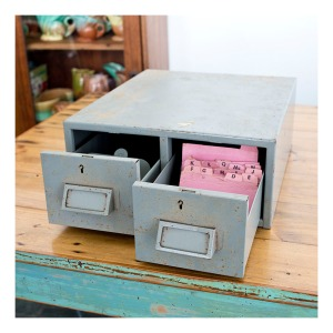 50s steel file drawers