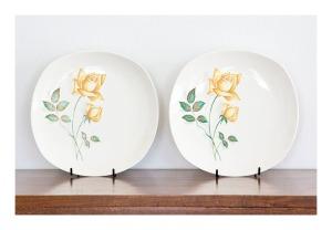 Johnson 'Sovereign Rose' plates, 1950s