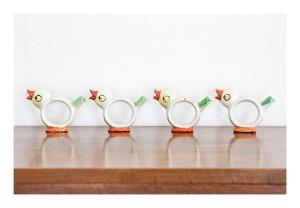 Art deco napkin rings