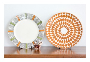 Funky 60s plates