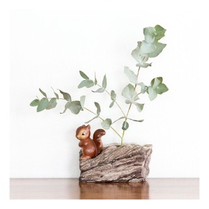 70s squirrel vase