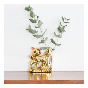 Bambi vase/thermometre, 50s