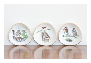 50s golf novelty plates