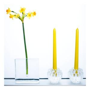 Pukeberg Solifleur vase & Kosta Boda candle holders