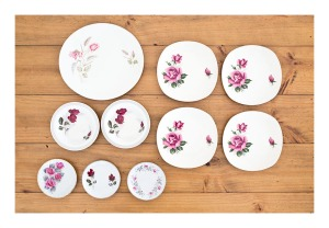 Rose plate collection, 1950s